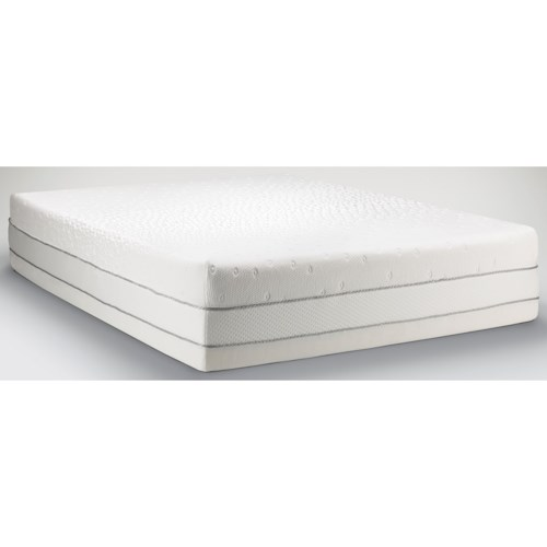 Tempur-Pedic® TEMPUR-Choice™  Luxe Queen Medium Firm to Soft Mattress and Tempur-Up Adjustable Grey Foundation