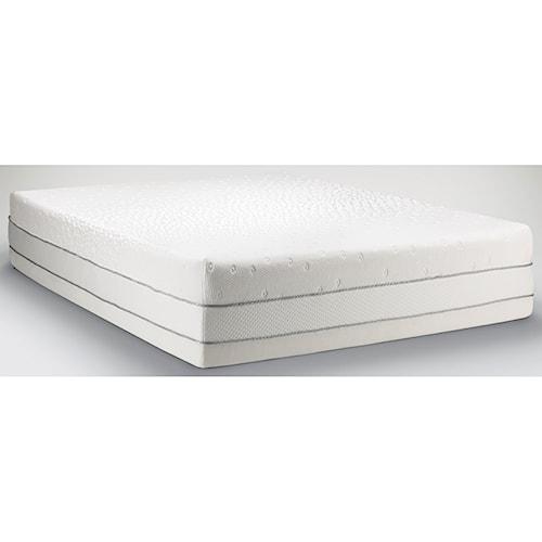 Tempur-Pedic® TEMPUR-Choice™  Luxe Queen Medium Firm to Soft Mattress and Tempur-Ergo Plus Adjustable Grey Base