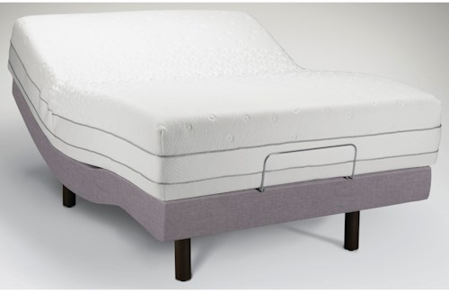 Tempur-Pedic® TEMPUR-Choice™  Luxe Queen Medium Firm to Soft Mattress and Tempur-Ergo Premier Adjustable Grey Base
