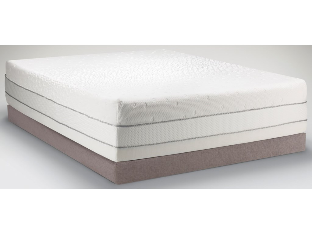 Mattress Shown on a Low Profile Foundation - Actual Foundation is 4