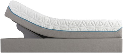 Tempur-Pedic® TEMPUR-Cloud Elite Twin Extra Long Extra-Soft Mattress and Tempur-Up Adjustable Grey Foundation