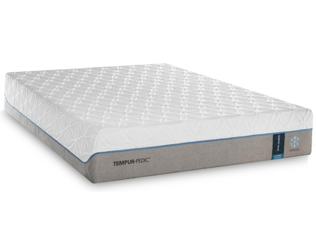 Tempur-Pedic® TEMPUR-Cloud Luxe Breeze 2Split King Ultra-Soft Mattress Set, Adj