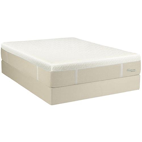 Tempur-Pedic® TEMPUR-Cloud® Luxe Breeze California King Ultra Soft Mattress and Ecru High Profile Foundation