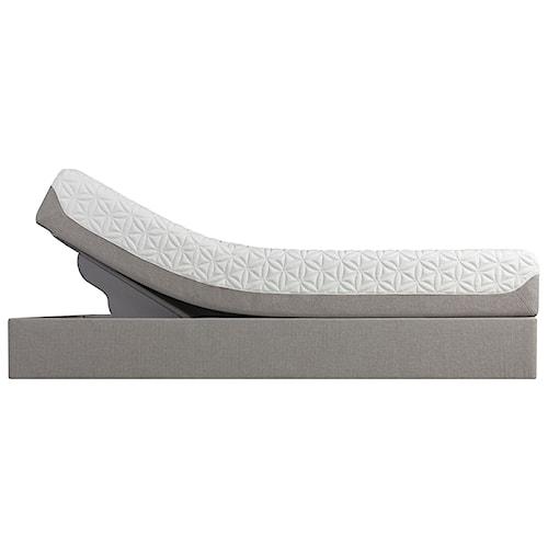 Tempur-Pedic® TEMPUR-Cloud Prima Full Medium-Soft Mattress and Tempur-Up Adjustable Grey Foundation