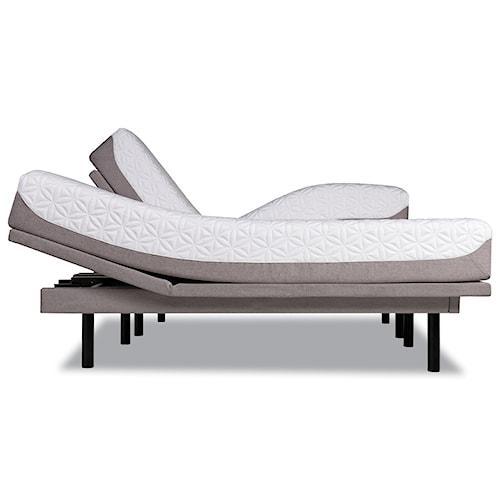 Tempur-Pedic® TEMPUR-Cloud Prima King Medium-Soft Mattress and Tempur-Ergo Plus Adjustable Grey Base