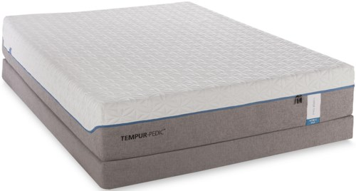 Tempur-Pedic® TEMPUR-Cloud Supreme Twin Extra Long Soft Mattress and Low Profile Foundation