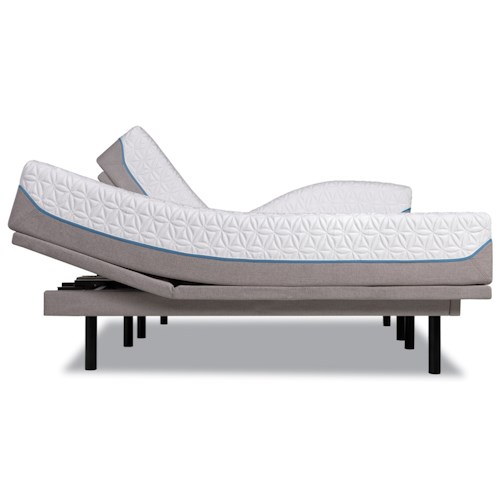 Tempur-Pedic® TEMPUR-Cloud Supreme Twin Extra Long Soft Mattress and Tempur-Ergo Plus Adjustable Grey Base