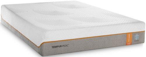 Tempur-Pedic® TEMPUR-Contour Elite Breeze Queen Medium-Firm Mattress and Ecru Low Profile Foundation