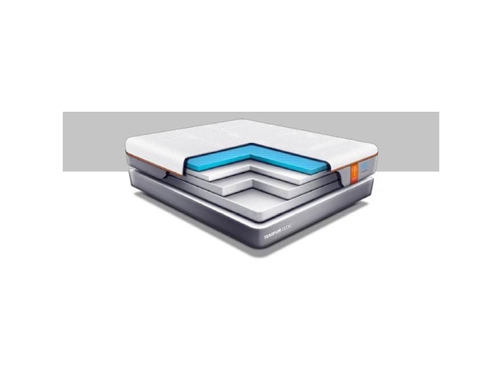Tempur-Pedic® TEMPUR-Contour Elite BreezeQueen Medium-Firm Mattress Set