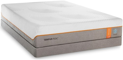 Tempur-Pedic® TEMPUR-Contour Elite Breeze Twin Extra Long Medium-Firm Mattress and Grey High Profile Foundation