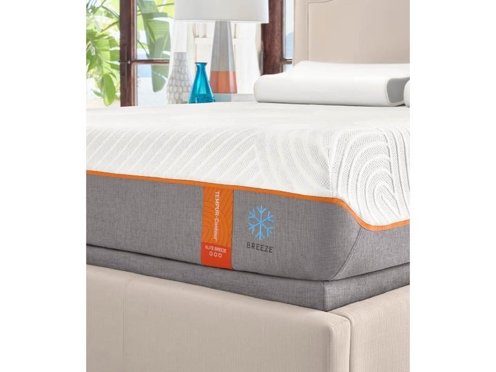 Tempur-Pedic® TEMPUR-Contour Elite BreezeCal King Medium-Firm Mattress Set