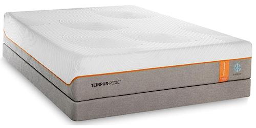 Tempur-Pedic® TEMPUR-Contour Elite Breeze Queen Medium-Firm Mattress and Grey Low Profile Foundation