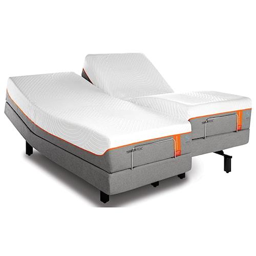 Tempur-Pedic® TEMPUR-Contour Elite Breeze Split King Medium-Firm Mattress and TEMPUR-Ergo Premier Adjustable Base