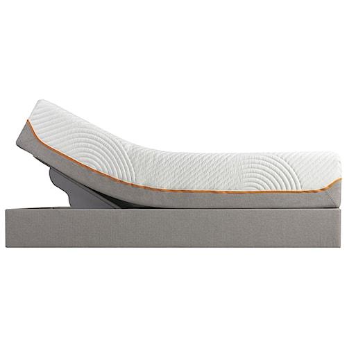 Tempur-Pedic® TEMPUR-Contour Rhapsody Luxe Queen Medium Firm Mattress Mattress and Tempur-Up Adjustable Grey Foundation