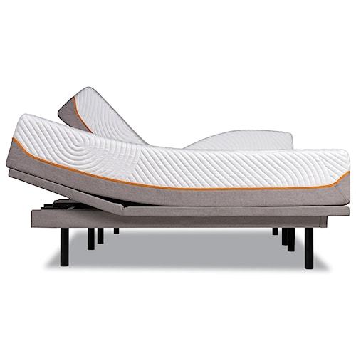 Tempur-Pedic® TEMPUR-Contour Rhapsody Luxe Queen Medium Firm Mattress and Tempur-Ergo Plus Adjustable Grey Base