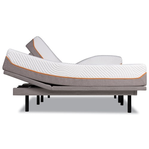 Tempur-Pedic® TEMPUR-Contour Supreme Twin Firm Mattress and Tempur-Ergo Plus Adjustable Grey Base