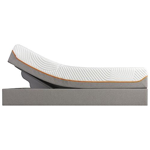Tempur-Pedic® TEMPUR-Contour Supreme Twin Extra Long Firm Mattress and Tempur-Up Adjustable Grey Foundation