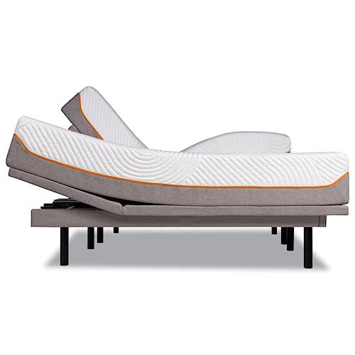 Tempur-Pedic® TEMPUR-Contour Supreme Queen Firm Mattress and Tempur-Ergo Plus Adjustable Grey Base