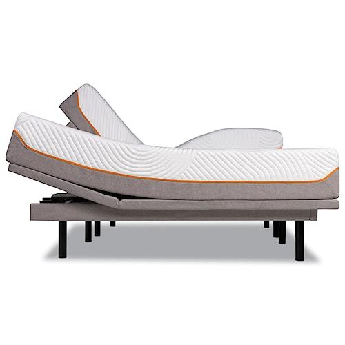 Tempur-Pedic® TEMPUR-Contour Supreme King Firm Mattress and Tempur-Ergo Plus Adjustable Grey Base