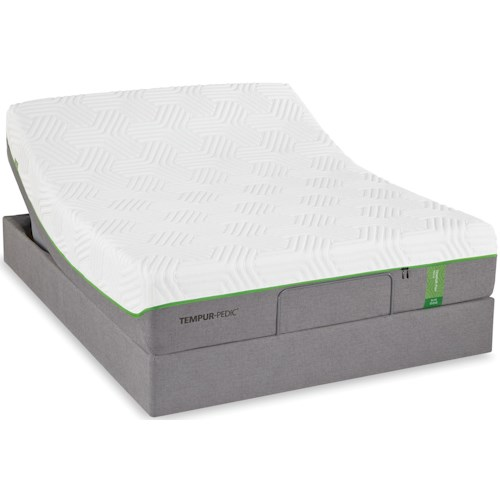 Tempur-Pedic® TEMPUR-Flex Elite King Medium Soft Plush Mattress and TEMPUR-Up Adjustable Foundation