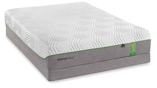 Tempur-Pedic® TEMPUR-Flex Elite Full Medium Soft Plush Mattress and TEMPUR-Flat High Profile Foundation