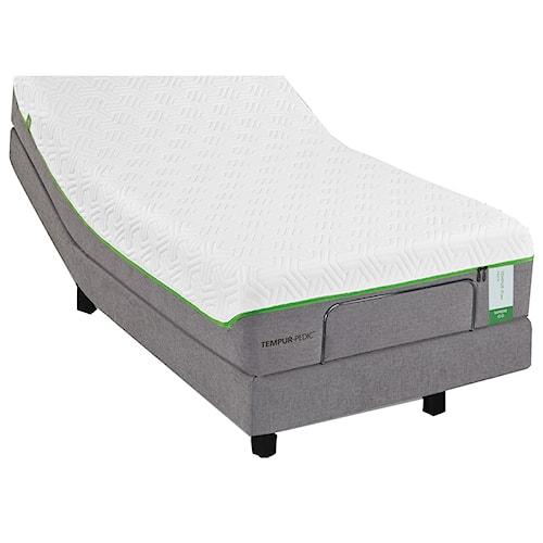 Tempur-Pedic® TEMPUR-Flex Elite Cal King Medium Soft Plush Mattress and TEMPUR-Ergo Premier Adjustable Base