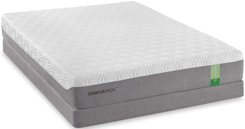 Tempur-Pedic® TEMPUR-Flex Prima Twin Medium Firm Mattress and High Profile Foundation