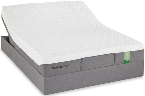 Tempur-Pedic® TEMPUR-Flex Prima Queen Medium Firm Mattress and Tempur-Up Adjustable Foundation
