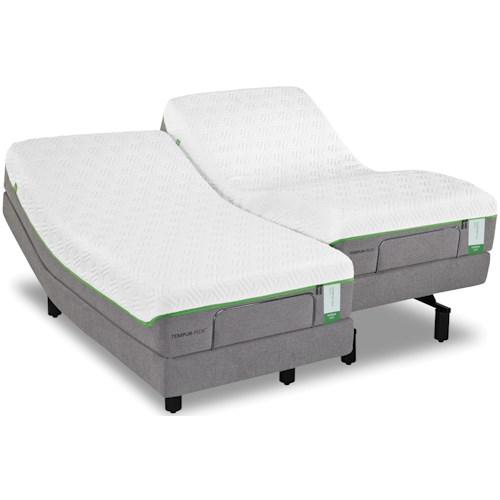 Tempur-Pedic® TEMPUR-Flex Prima Queen Medium Firm Mattress and Tempur-Ergo Plus Adjustable Foundation