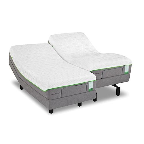 Tempur-Pedic® TEMPUR-Flex Prima Cal King Medium Firm Mattress and Tempur-Ergo Plus Adjustable Foundation