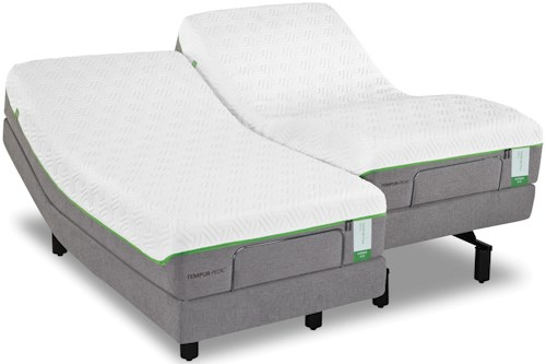 Tempur-Pedic® TEMPUR-Flex Prima Cal King Medium Firm Mattress and Tempur-Ergo Plus Adjustable Foundation
