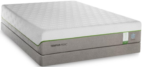 Tempur-Pedic® TEMPUR-Flex Supreme Breeze Split King Medium Plush Mattress and TEMPUR-Flat High Profile Foundation