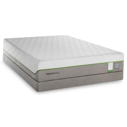 Tempur-Pedic® TEMPUR-Flex Supreme Breeze Twin Extra Long Medium Plush Mattress and TEMPUR-Up Adjustable Foundation
