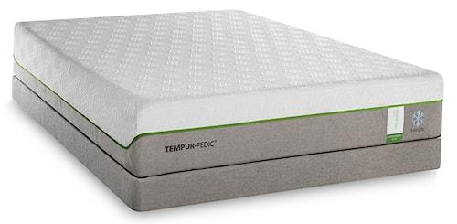 Tempur-Pedic® TEMPUR-Flex Supreme Breeze Split King Medium Plush Mattress and TEMPUR-Ergo Plus Adjustable Base