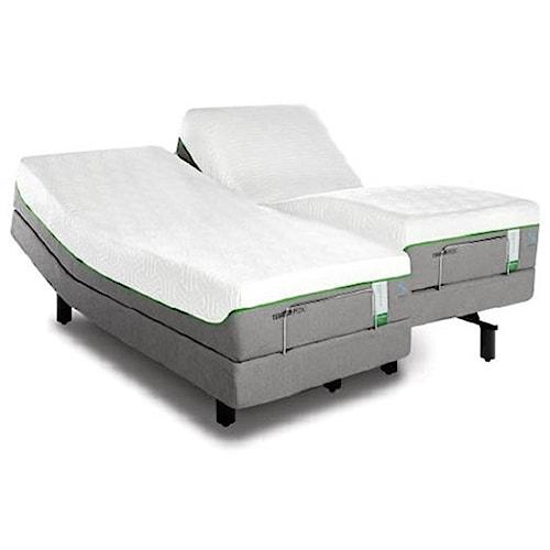 Tempur-Pedic® TEMPUR-Flex Supreme Breeze Full Medium Plush Mattress and TEMPUR-Ergo Premier Adjustable Base