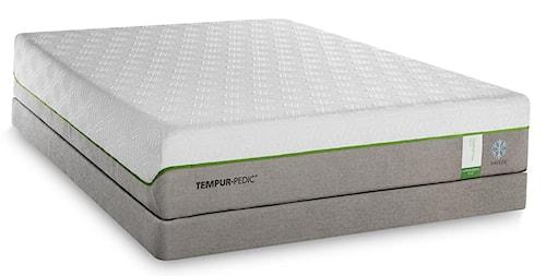 Tempur-Pedic® TEMPUR-Flex Supreme Breeze Queen Medium Plush Mattress and TEMPUR-Up Adjustable Foundation