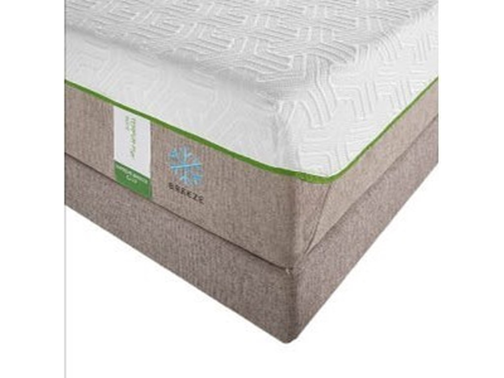 Tempur-Pedic® TEMPUR-Flex Supreme BreezeQueen Medium Plush Mattress Set, Adj