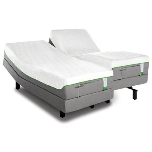 Tempur-Pedic® TEMPUR-Flex Supreme Breeze Queen Medium Plush Mattress and TEMPUR-Ergo Premier Adjustable Base