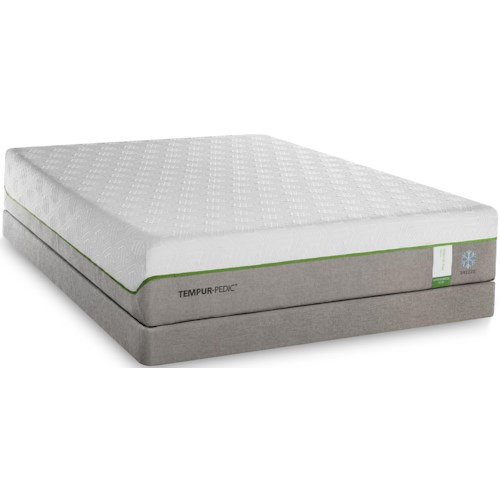 Tempur-Pedic® TEMPUR-Flex Supreme Breeze King Medium Plush Mattress and TEMPUR-Flat High Profile Foundation