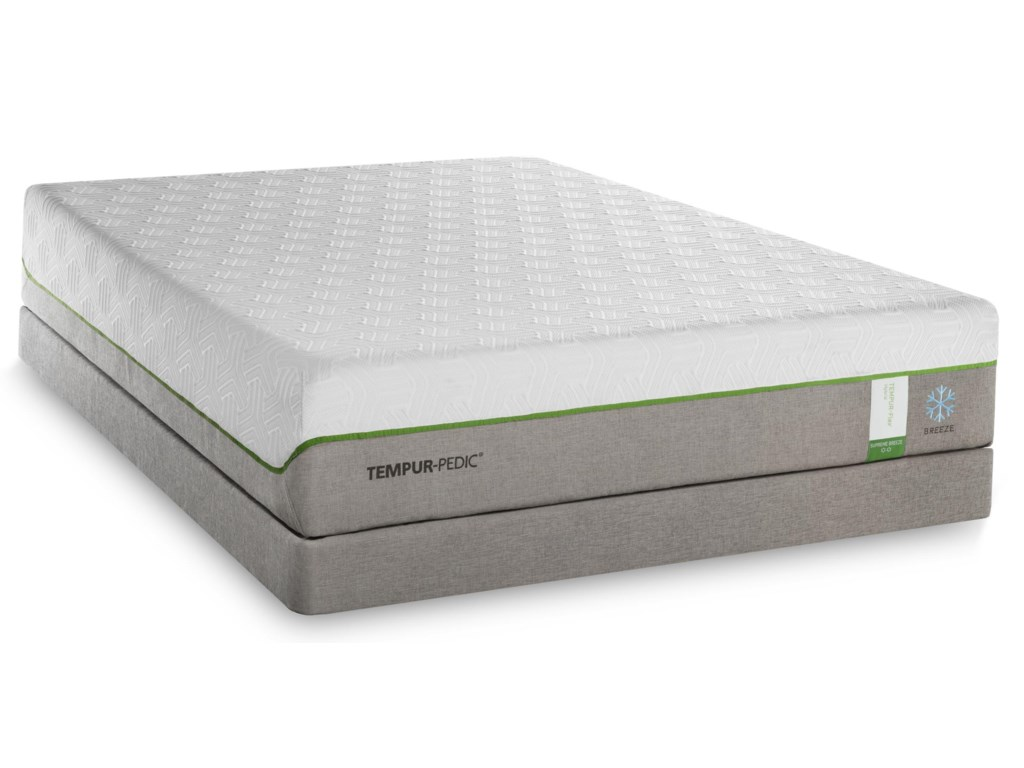 Tempur-Pedic® TEMPUR-Flex Supreme BreezeKing Medium Plush Mattress Set