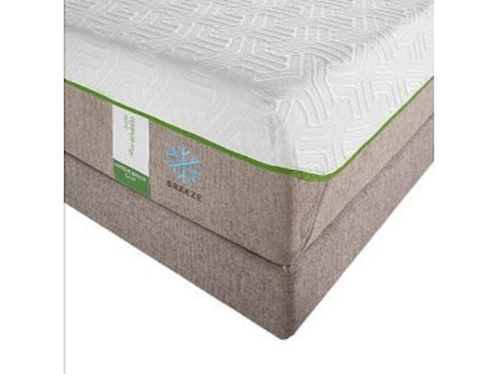 Tempur-Pedic® TEMPUR-Flex Supreme BreezeKing Medium Plush Mattress Set, Adj