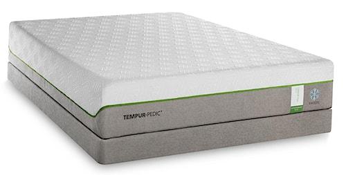 Tempur-Pedic® TEMPUR-Flex Supreme Breeze California King Medium Plush Mattress and TEMPUR-Flat Low Profile Foundation