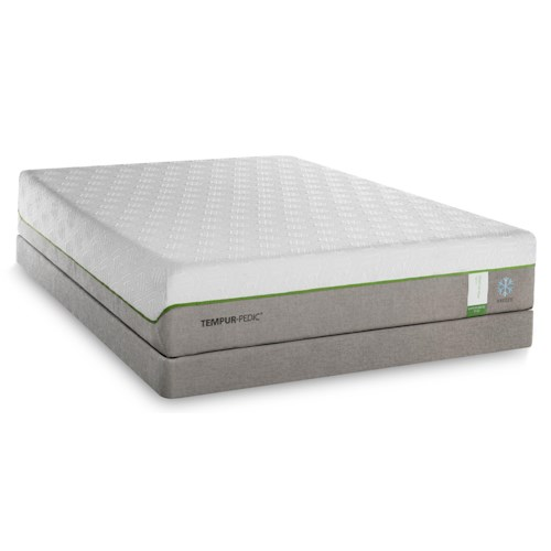 Tempur-Pedic® TEMPUR-Flex Supreme Breeze California King Medium Plush Mattress and TEMPUR-Up Adjustable Foundation