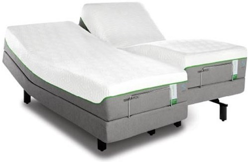Tempur-Pedic® TEMPUR-Flex Supreme Breeze California King Medium Plush Mattress and TEMPUR-Ergo Premier Adjustable Base