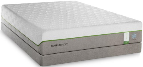 Tempur-Pedic® TEMPUR-Flex Supreme Breeze California King Medium Plush Mattress and TEMPUR-Flat High Profile Foundation