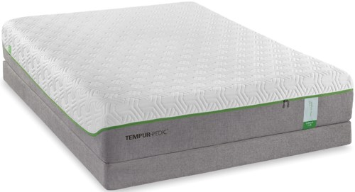 Tempur-Pedic® TEMPUR-Flex Supreme Full Medium Plush Mattress and Tempur-Flat High Profile Foundation