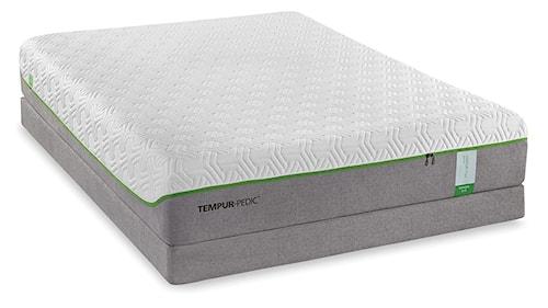Tempur-Pedic® TEMPUR-Flex Supreme King Medium Plush Mattress and Tempur-Flat High Profile Foundation