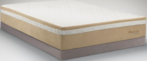 Tempur-Pedic® TEMPUR-Contour™ Rhapsody Breeze King Medium Firm Mattress and Grey Low Profile Foundation
