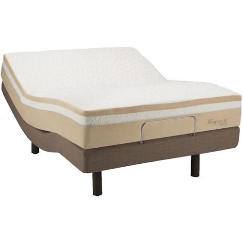 Tempur-Pedic® TEMPUR-Contour™ Rhapsody Breeze Queen TEMPUR-Rhapsody™ <i>Breeze</i> and TEMPUR-Ergo™ Premier Base <i>by</i> Tempur-Pedic®