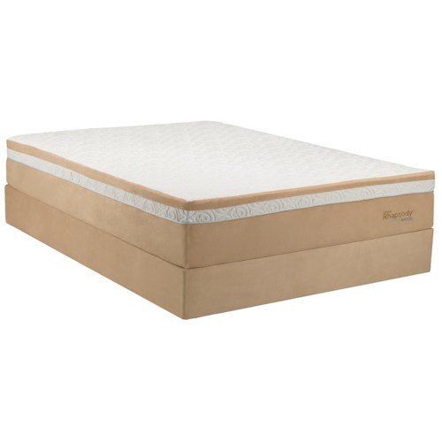 Tempur-Pedic® TEMPUR-Contour™ Rhapsody Breeze Queen Medium Firm Mattress and Ecru High Profile Foundation